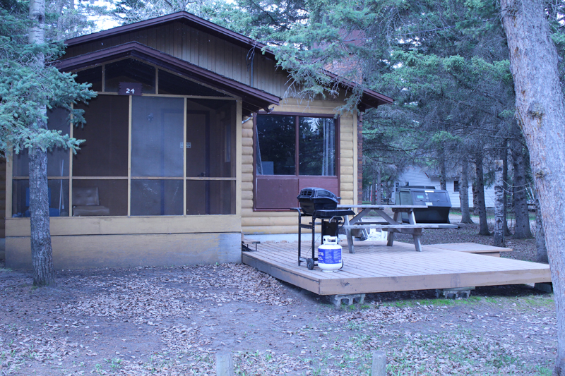 Front view of cabin 24
